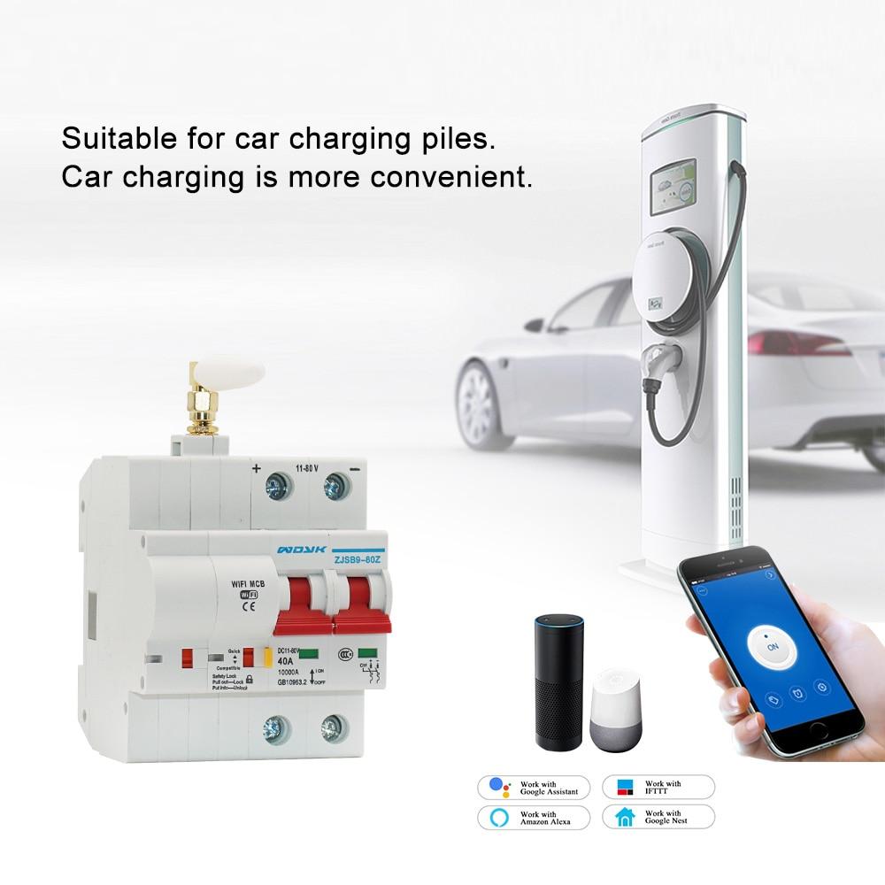 EWelink APP 2P WiFi DC Smart Circuit Breaker Overload Short Circuit Protection With Amazon Alexa Google Home For Smart Home