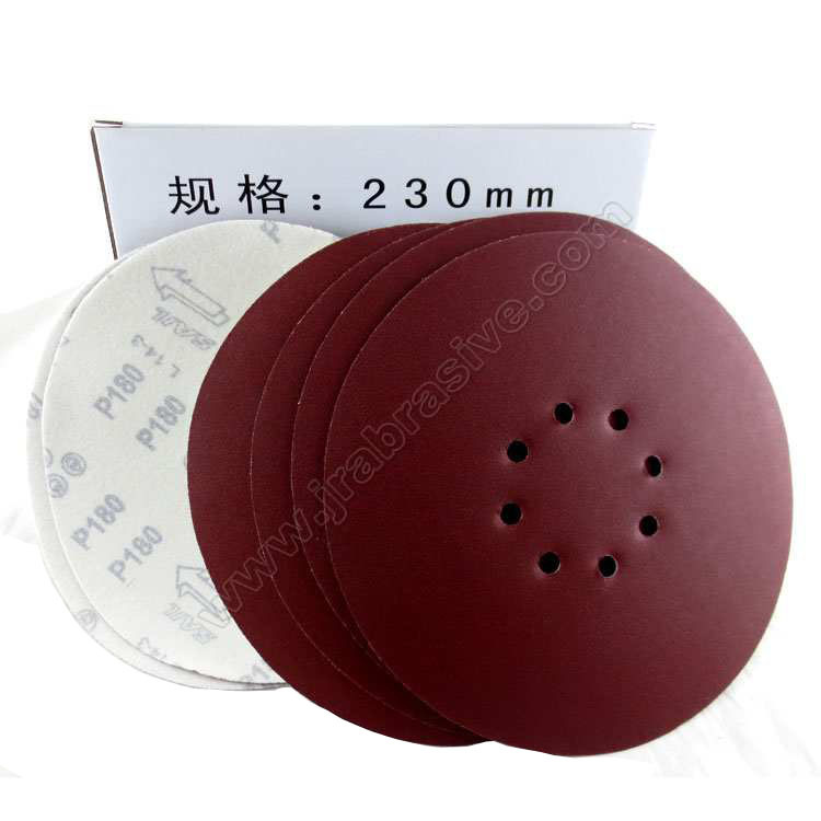 Wholesale Supply 9-Inch 230 Size Flocked Sandpaper Grinding Wall Only Sandpaper Disc Sander