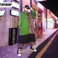 leopard sweatshirt dress r001
