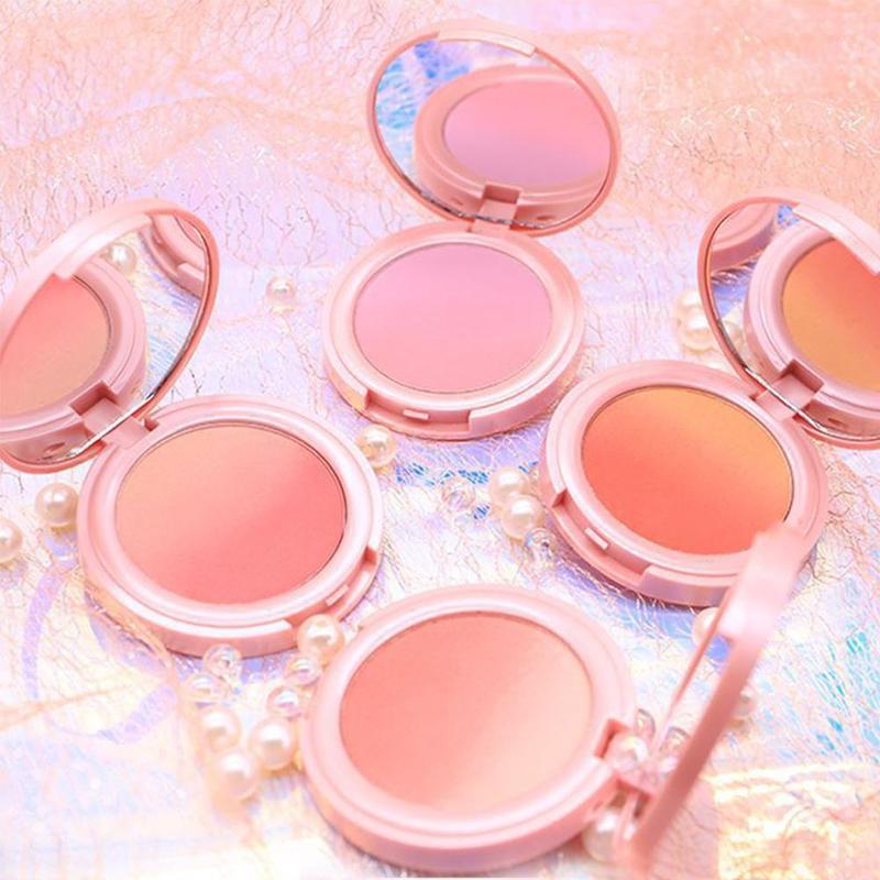 1 Pc Natural Blush Baked Cheek Face Blusher Texture Baked Blush Face Base Mineral Blusher Palette Blush Makeup