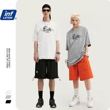 INFLATION 2020 SS t shirt Men Print Couple Tee Men Tee Shirts O neck Cotton Men T Shirt Casual Streetwear Men T Shirts 1019S20