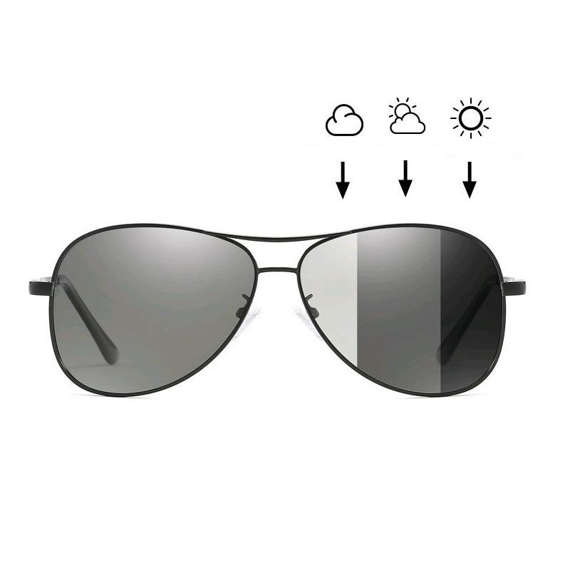 Gafas de sol fotos polarizadas para piloto, unissex, para conducir, camaleon
