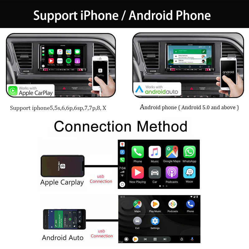 Carlinkit usb carplay dongle/android auto para android carro multimídia jogador plug and play