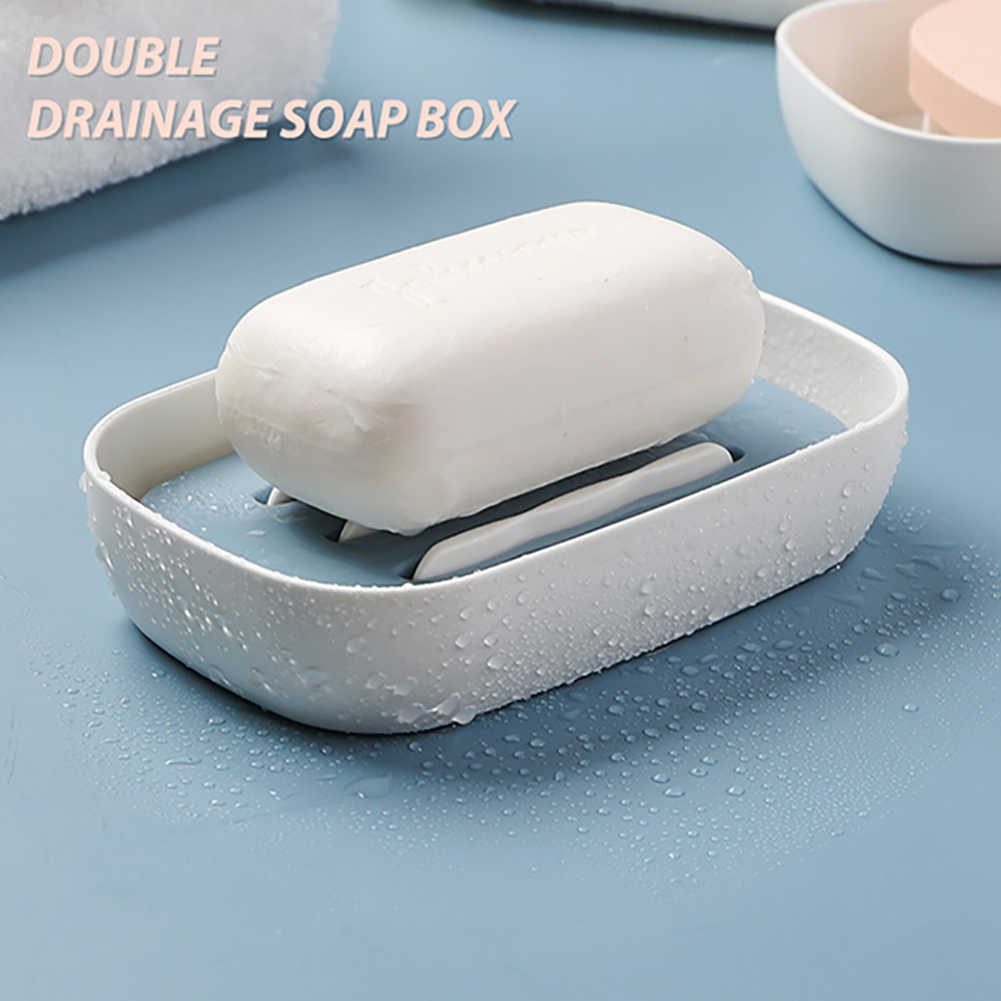 Double Layers Dish Shower Free Standing Pp For Bathroom Toilet Travel Soap Holder Home Hotel Storage Rack Draining Box Gadget Aliexpress