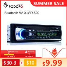 Podofo one din Автомобильный Радио Стерео FM Aux вход приемник SD USB JSD-520 12В In-dash 1 din Автомобильный MP3 USB Мультимедийный Авторадио плеер