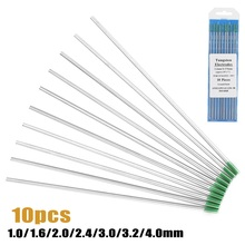 Welding-Electrodes Stainless-Steel Tungsten TIG WP for of Green-Tip 10PCS