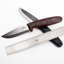 [BROTHER F006] 60HRC 440C blade Fixed Blade knife Scandi Bushcraft Knives Straight Tactical Hunting Camping EDC tool