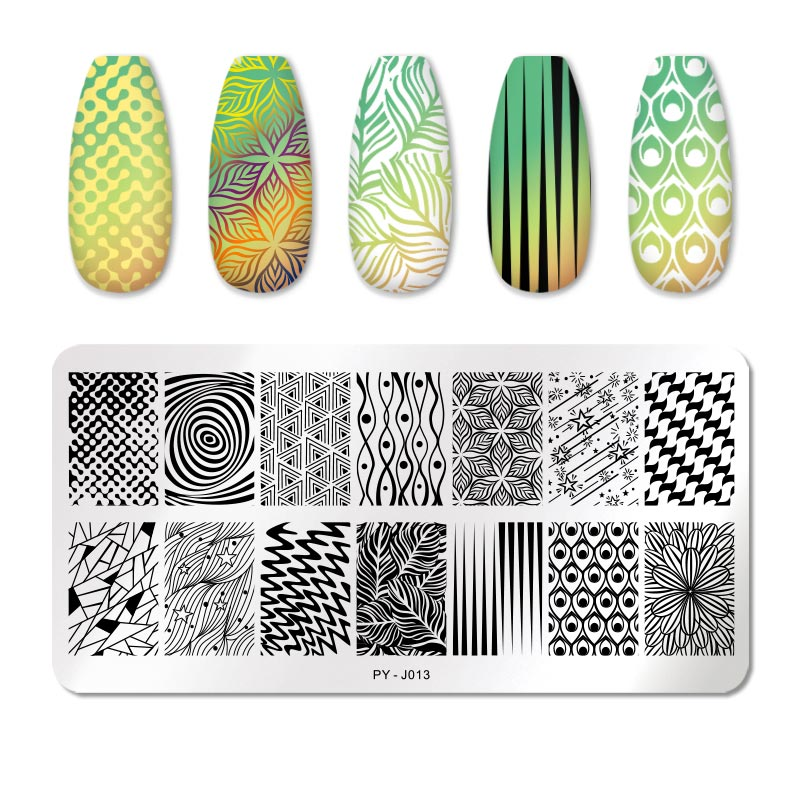 PICT YOU 12*6cm Nail Art Templates Stamping Plate Design Flower Animal Glass Temperature Lace Stamp Templates Plates Image 46
