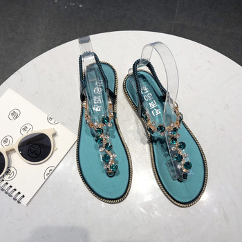 GlintLife | Rhinestone flat sandals | For the beauty of your feet