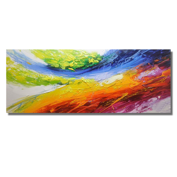 Modern hand-painted Abstract Oil Painting on Canvas Wall Art Painting Blue Abstract Art Picture for Living Room Home Decor