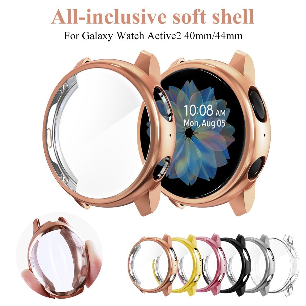Чехол для Samsung galaxy watch active 2 active 1, чехол, бампер, аксессуары, защита, полное покрытие, Силиконовая Защита экрана