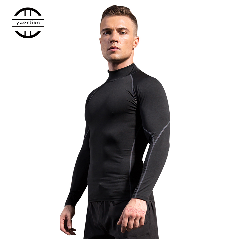 Men Sport Shirt man Gym Fitness Tight Running Compression T-shirt Basketball Jersey Sportswear Bodybuilding Gym man's T-shirt 3