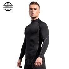 Winter Quick Dry Sport Shirt man Running Fitness Tight T-shirt rashgar