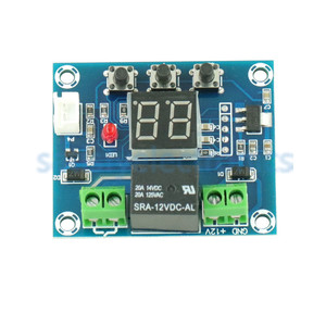 Image 2 - Red 12V Soil Humidity Sensor Controller Irrigation System Automatic Watering Module Digital Display Humidity Controller XH M214
