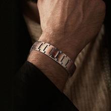 Męska pełna miedź Link bransoletka bransoletki Brackelts Brazalet 8 5 cala tanie tanio mprainbow Hologram bransoletki Mężczyźni Miedzi CN (pochodzenie) Moda TRENDY Metal Link łańcucha Wszystko kompatybilny