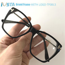 Очки ivsta tf0813 женские оверсайз с логотипом роскошные брендовые
