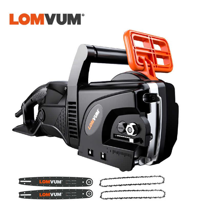 منشار كهربائي من LOMVUM بسلسلة بقدرة 6980 واط ، منشار كهربائي قوي يعمل بتيار متردد 220 فولت ، أدوات كهربائية للحدائق ، أداة منزلية لتقطيع الخشب 4 شفرات