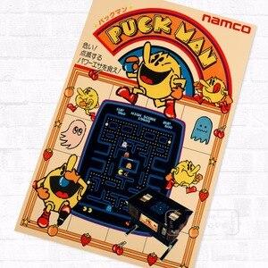 Pacman Puck Man, винтажные видео игры, рекламный постер, ретро декоративные DIY настенные наклейки, искусство, домашний бар, постеры, Декор, подарок