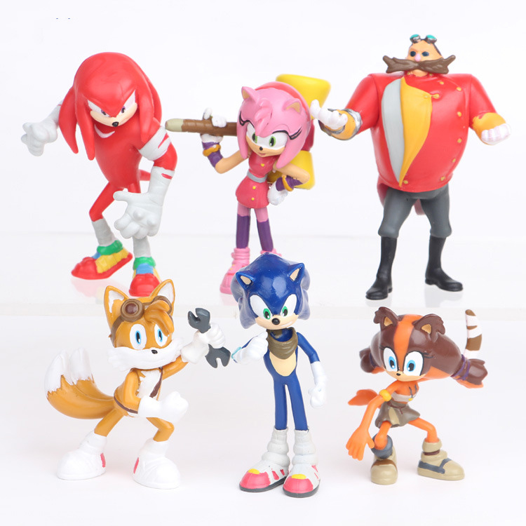 6pcs Set Sonic The Hedgehog Figures Toy Tails Shadow Amy Rose Team Rabbit Characters Figure Toys Cartoon Anime Pvc Dolls Action Toy Figures Aliexpress