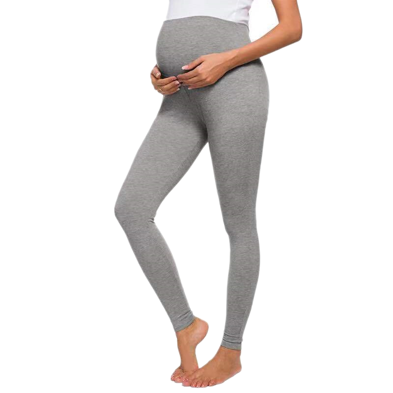 maternidade elástico magro leggings calças de gravidez