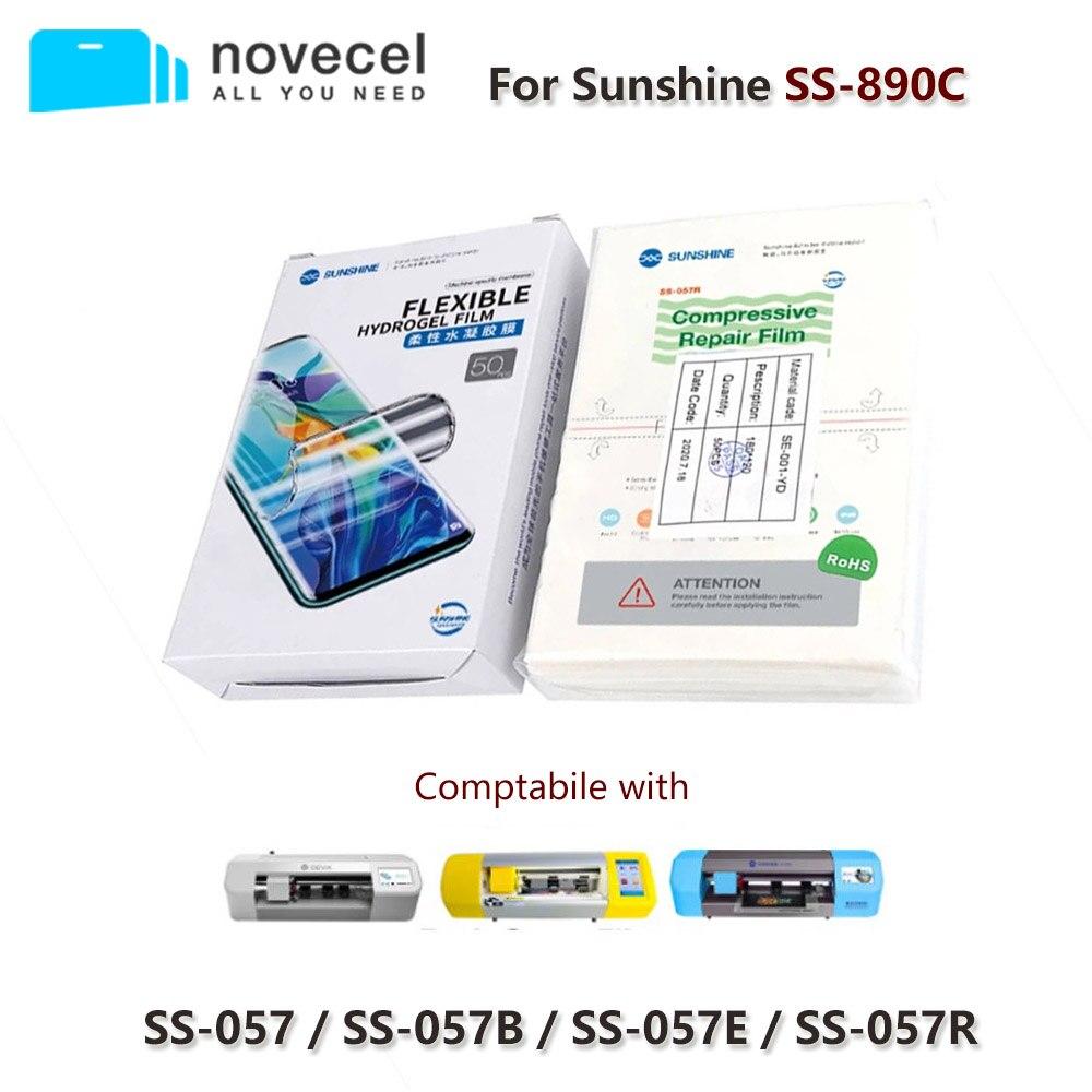 50pcs/lot Sunshine Flexible Hydrogel Film Ss-057 For Ss-890c Intelligent Film Cutting Machine Phone Screen Front Protect Film