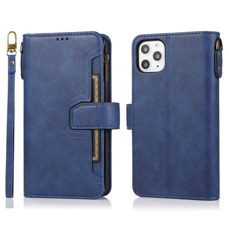 Flip Luxury Wallet Zipper Leather Case Design Cover For iphone 7 6 7plus 11 6plus X XR XSMax 11Pro 11Promax 8 8plus Case KS0792 image