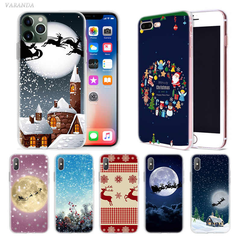 Merry Christmas Case for Apple iphone 11 Pro XS Max XR X 7 8 6 6S Plus 5 5S SE 5C Silicone New Year Phone Cover Coque Carcasa