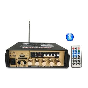 Image 5 - Hot 3C 600W Audio Power Amplifier with EU Plug 12/220V 2CH Mini HIFI Bluetooth Digital Audio Amp for Home /Car