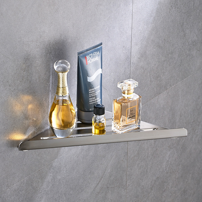 304 Stainless Steel Triangle Basket Bathroom Rack Wall Hangers Toilet Storage Shelf Suction Wall