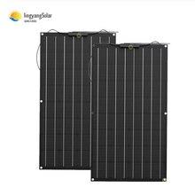 Солнечная панель 200 Вт 100 Вт настоятельно рекомендуется Гибкая солнечная панель 100 Вт для зарядного устройства для аккумуляторов 12 В, монокр...