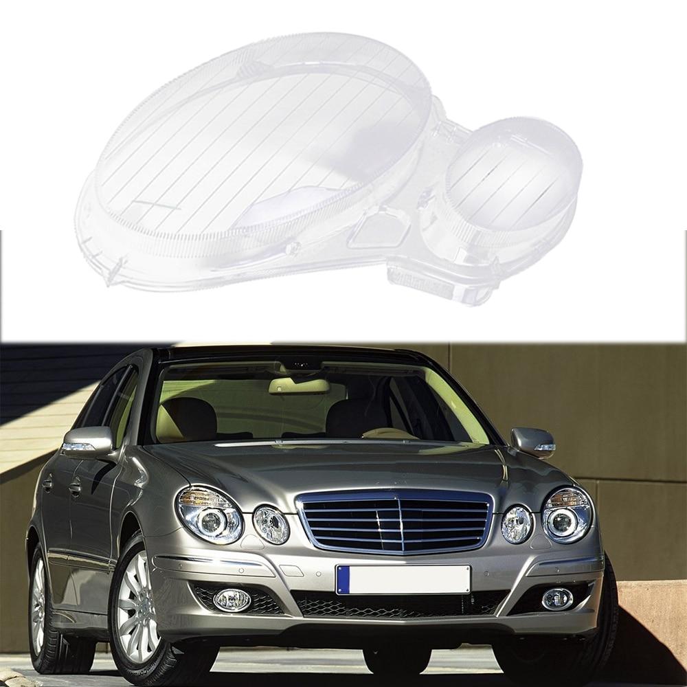 Car Headlight Lens Glass Cover For Benz W211 E240 E200 E350 E280 E300 2002-2008 Lampcover Cover Lampshade Hot Sale Left Right