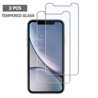 2 Pcs Tempered Glass for iPhone X XR XS Max 8 7 6 6S Plus Screen Protector 5 5S SE ScreenProtector Glass Phone Verre Tremp Coque