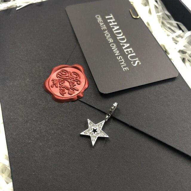 Breloque paillettes étoile 925 en argent Sterling pour femmes hommes 2019 hiver mousqueton fermoir à la mode Club cadeau Thomas Style cadeau idéal pour Bracelet