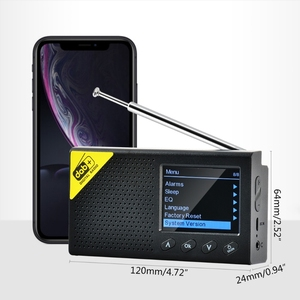 Portable Bluetooth Digital Radio DAB/DAB+ and FM Receiver Rechargeable Lightweight Home Radio