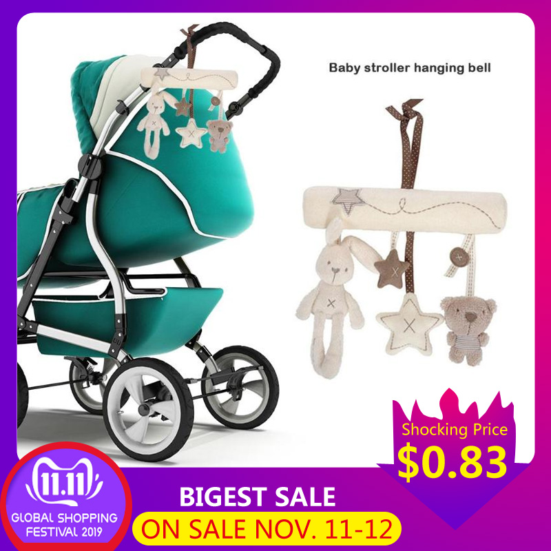 Baby Cute Rattles Mobiles Hanging Bed Stroller Crib Rattles Rabbit Toys Plush Animal Music Doll Bed Bell Educational Mobile Toys