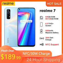 Оригинал Realme 7 смартфон Global NFC 6,5 'FHD + 8 Гб 128 Гб мобильный телефон 30 Вт Дротика Зарядка 5 В/6A Helio G95 48MP полноэкранный 5000 мАч