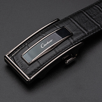 Ciartuar Leather Belt Automatic Buckle Belts for Men Genuine Leather Waist  Mens Luxury Designer Belt High Quality Fashion Strap designer fashion men belts luxury automatic buckle cowskin genuine leather belt for men business black waist male strap zd051