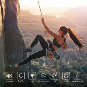 Image 5 - 4K spor eylem kamera ile EIS fonksiyonu 170D WiFi su geçirmez 30M uzaktan kumanda ile harici mikrofon Video kayıt kameralar