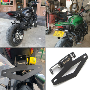 Image 2 - Motorcycle Rear License Registration Plate Tail Frame Holder Bracket Folding Short Tail Modified for Benelli 502C 752S