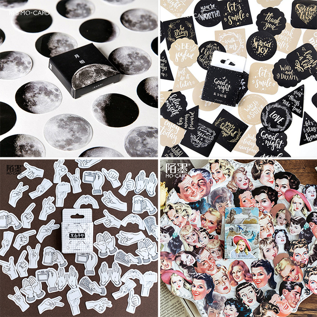 45 pcs/Box Various Stickers Diary Kawaii Cute Planner Journal Scrapbooking Paper Stickers Stationery School Supplies 3
