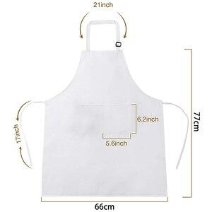 Image 5 - 6 Stuks Wit Schort Set Unisex Verstelbare Chef Ober Hoed Keuken Baker Cook Schort Met Pocket Voor Thuis Restaurant Accessoires
