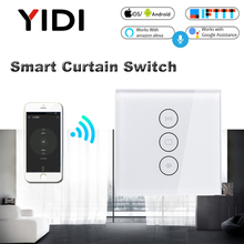 WiFi Electric Smart Curtain Switch Tuya APP Voice Remote Control Touch Switch for Automized Curtain Motor Blind Roller Shutter все цены