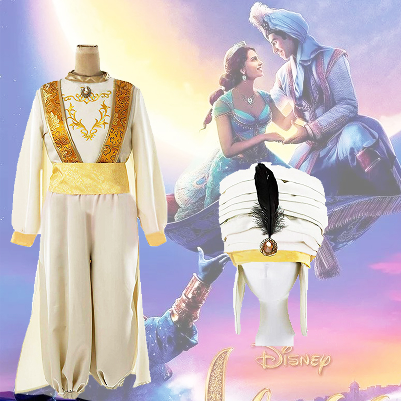 New Aladdin And The Magic Lamp Aladdin Cosplay Costume Halloween Costumes For Adult Jasmine Aladdin Costume Suit Halloween Party