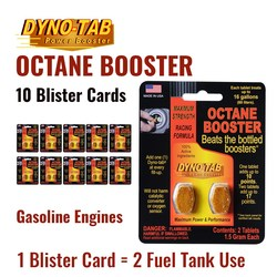 Dyno Tab Fuel Octane Booster Gasoline Petrol Of the Fuel Economy Carbon Cleaner (10 Blister Cards)