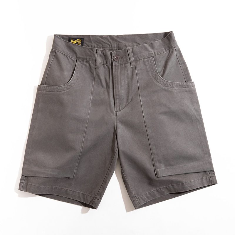 2020 New Relaxed Fit Stretch Twill Cargo Short Outdoor Work Shorts Khaki Grey