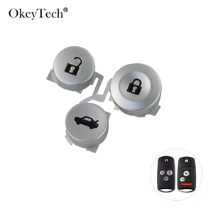 OkeyTech 3 Buttons Flip Folding Car Remote Key Pad For Honda Civic Accord Jazz CRV HRV Replacement Key Pad Accessories(China)