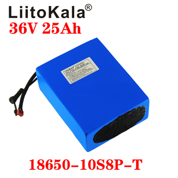 LiitoKala 18650 battery 36V 25AH 30AH 20AH 15AH Lithium Battery Electric Motorcycle Bicycle Scooter with BMS image