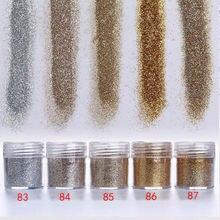 1 коробка (10 мл) Крупная Пыль для ногтей 28 смешанных цветов