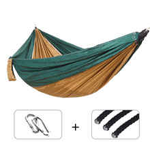 Single Double Ultralight Camping Hammock with Backpack Adult Outdoor/Indoor Furniture Parachute Travel Survival Hunting Sleeping