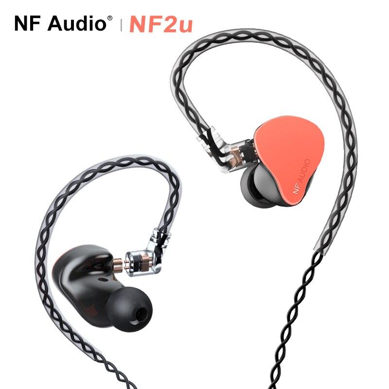 Hidizs nf áudio nf2u 2 knowles armatures drivers (2 vias crossover) alta fidelidade in-ear monitor fone de ouvido iem 0.78mm 2pin cabo destacável